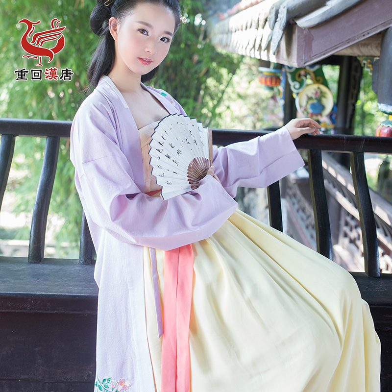 Back to the han and tang dynasties peak original brand daily non costume han chinese clothing embroidered women's long bei child of a single product