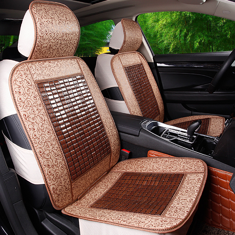 Backless three wooden bead car seat cushion summer bamboo mat bamboo mat bamboo mat monolithic liangdian mahjong mat cushion seat cushion