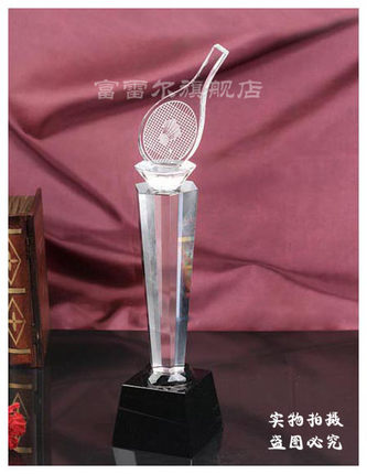 Badminton trophy crystal trophy custom spot custom crystal trophy crystal trophy custom lettering free