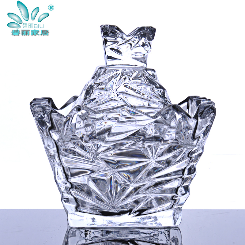 Bailey euclidian transparent aurora mini cute decorative living room coffee table ornaments jewelry glass storage jar sugar bowl