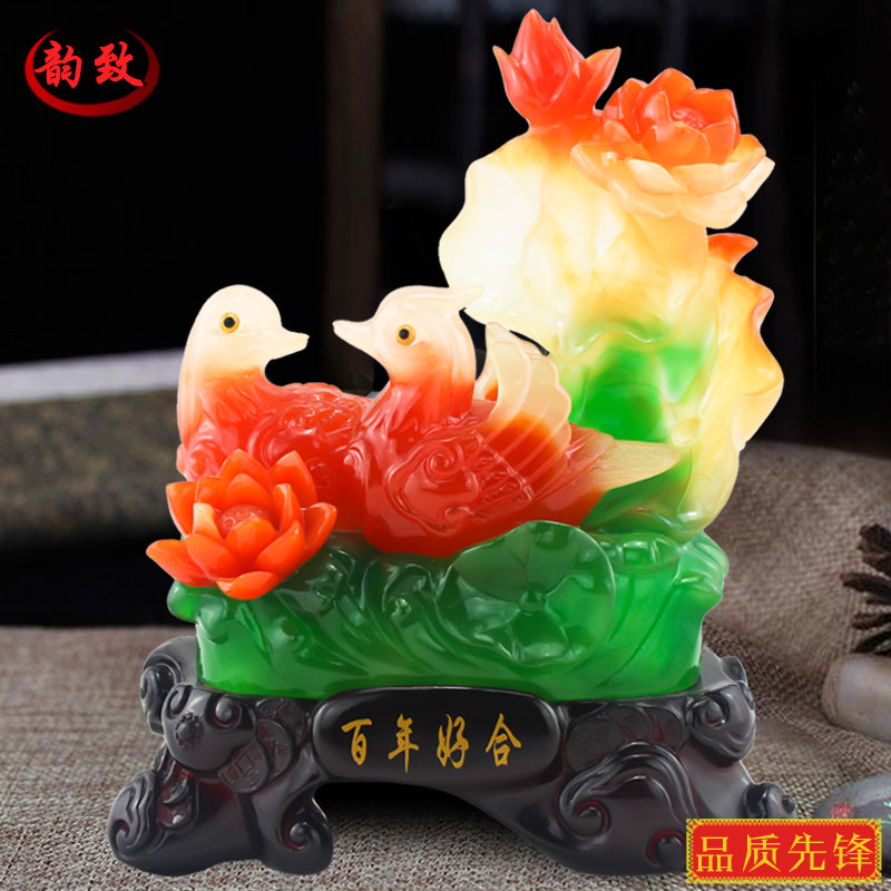Bainianhaoge duck ornaments wedding gifts marriage room furnishings creative wedding gift home decorations living room