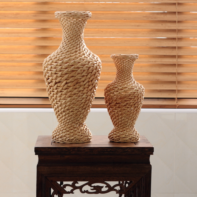 Bamboo and rattan忆园natural environmental non rattan wicker baskets flower pots flower vase flower bottle home handmade ornaments