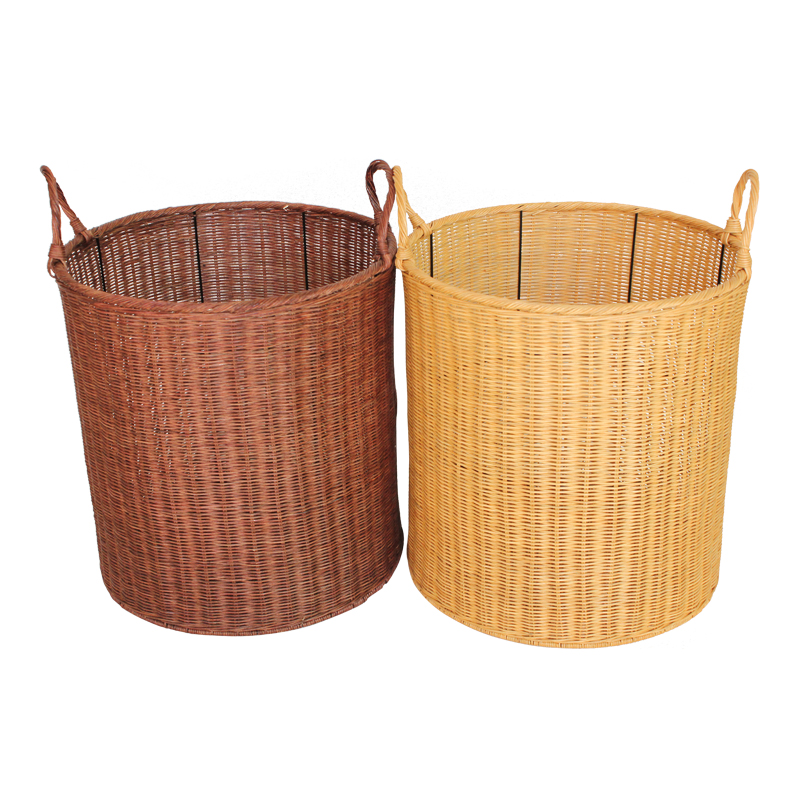 Bamboo and rattan weaving baskets of dirty clothes storage basket storage barrels laundry basket laundry basket of dirty clothes storage basket laundry basket drying Clothes basket