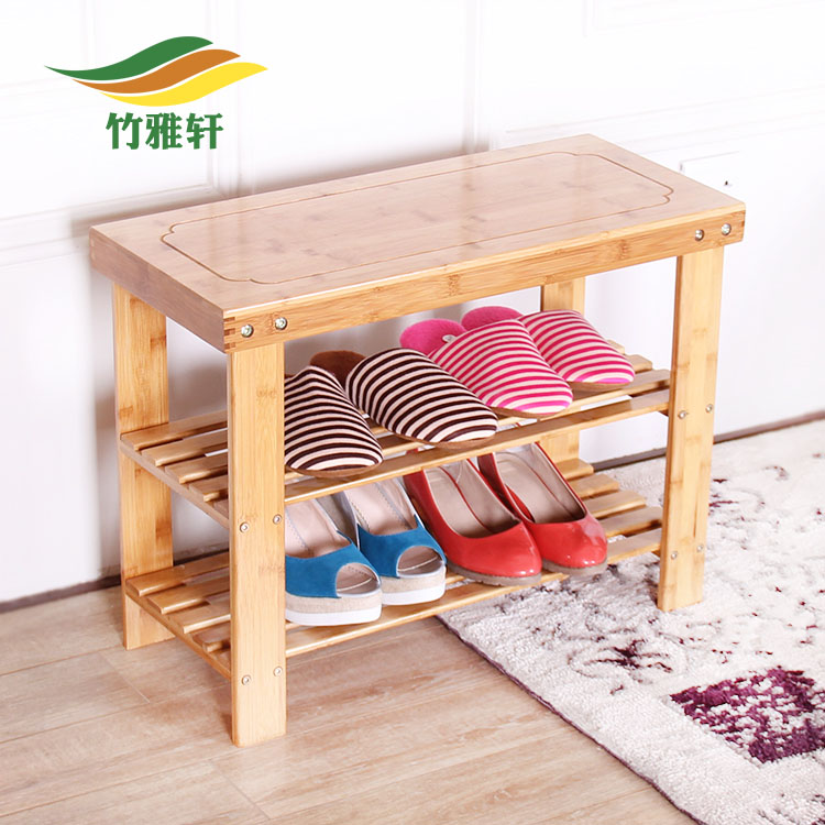 Bamboo bamboo tz white european pastoral creative shoe shoe wood stool changing his shoes storage stool stool stylish simplicity