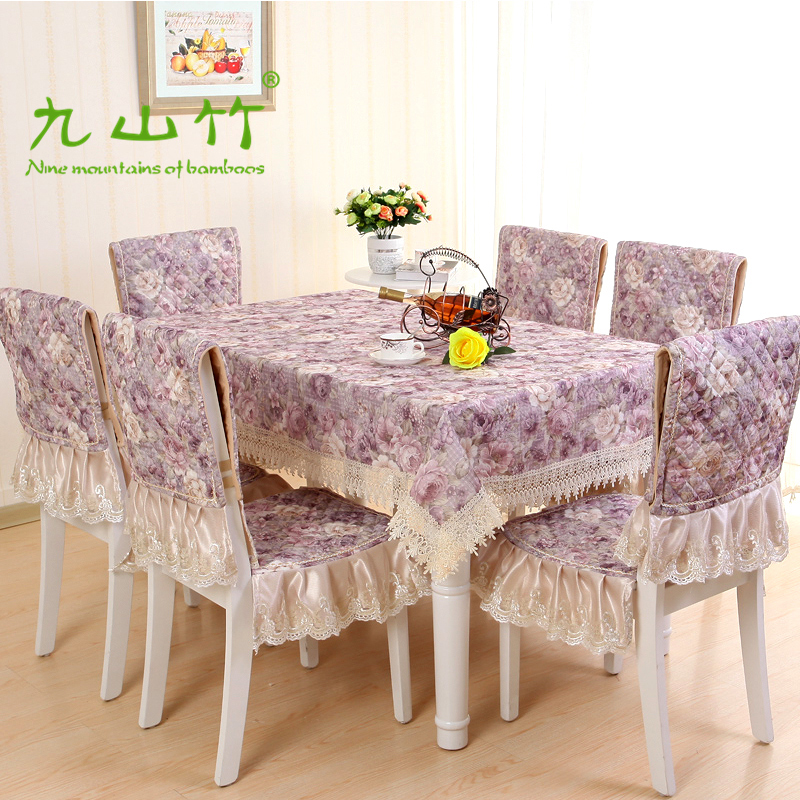 Bambooä¹å±±european tablecloth fabric table cloth upholstery coverings pastoral thick towel slip sleeve dress attrative