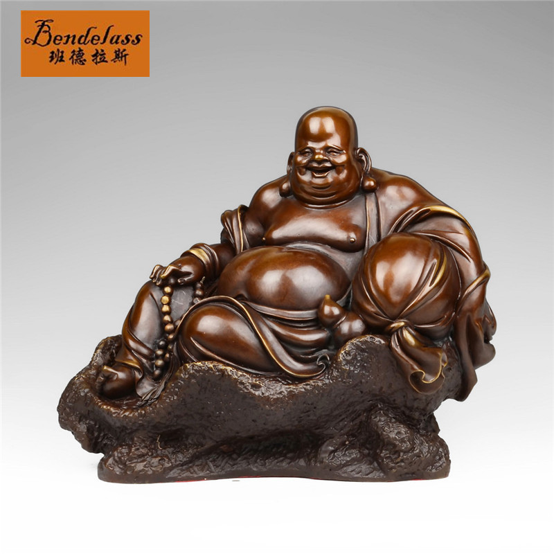Banderas copper modern gold bag like laughing buddha maitreya den home decoration home decorations ornaments