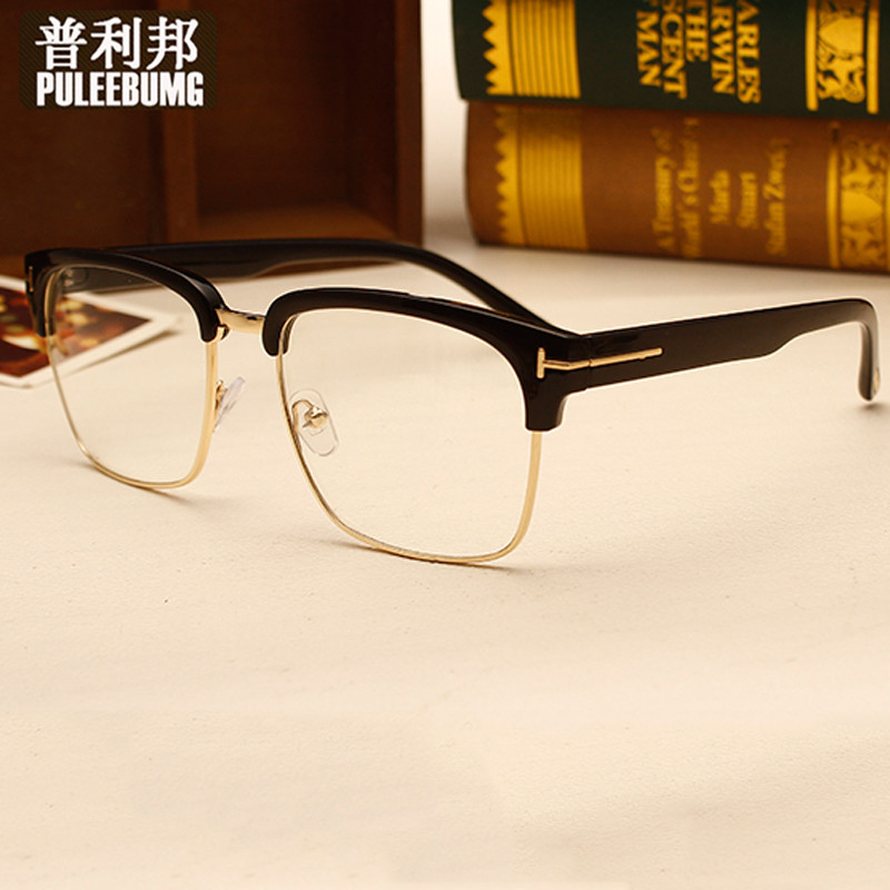 Bang pully half full frame plain mirror with myopia glasses frames for men and women the same paragraph literary retro sheet myopia glasses