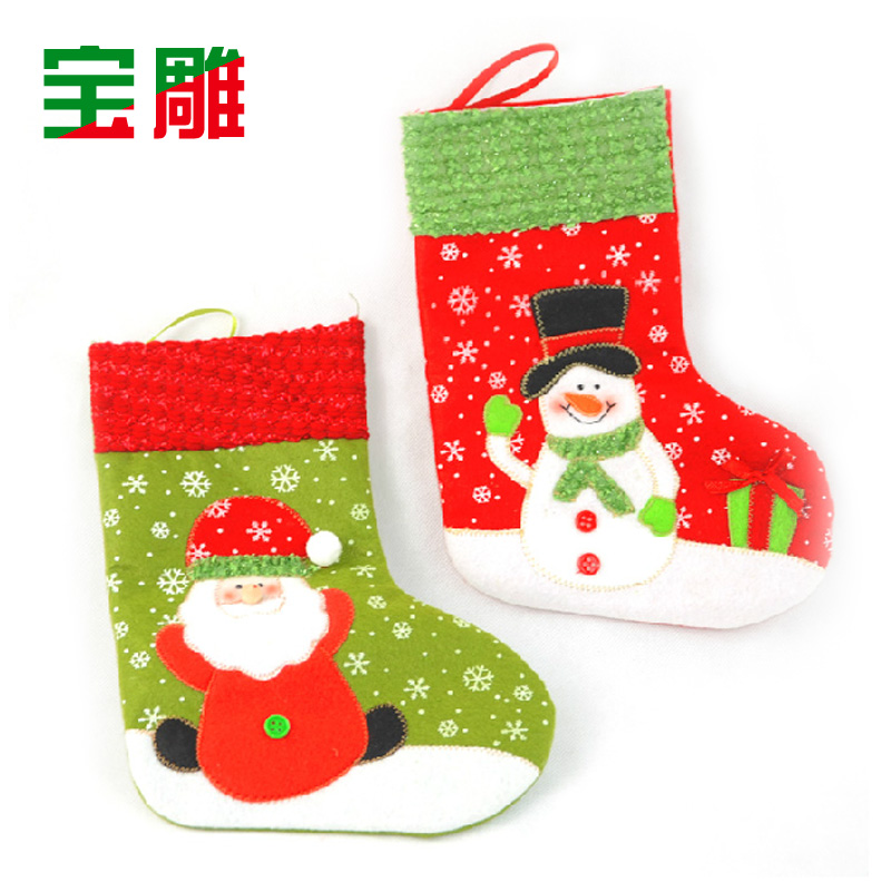 get quotations bao carved christmas decorations christmas tree ornaments christmas stockings socks cartoon christmas gift ideas matter bag