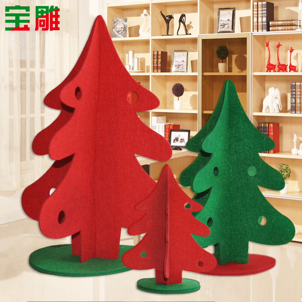Bao carved small mini christmas tree christmas tree package christmas decorations christmas decorations desktop countertops decoration
