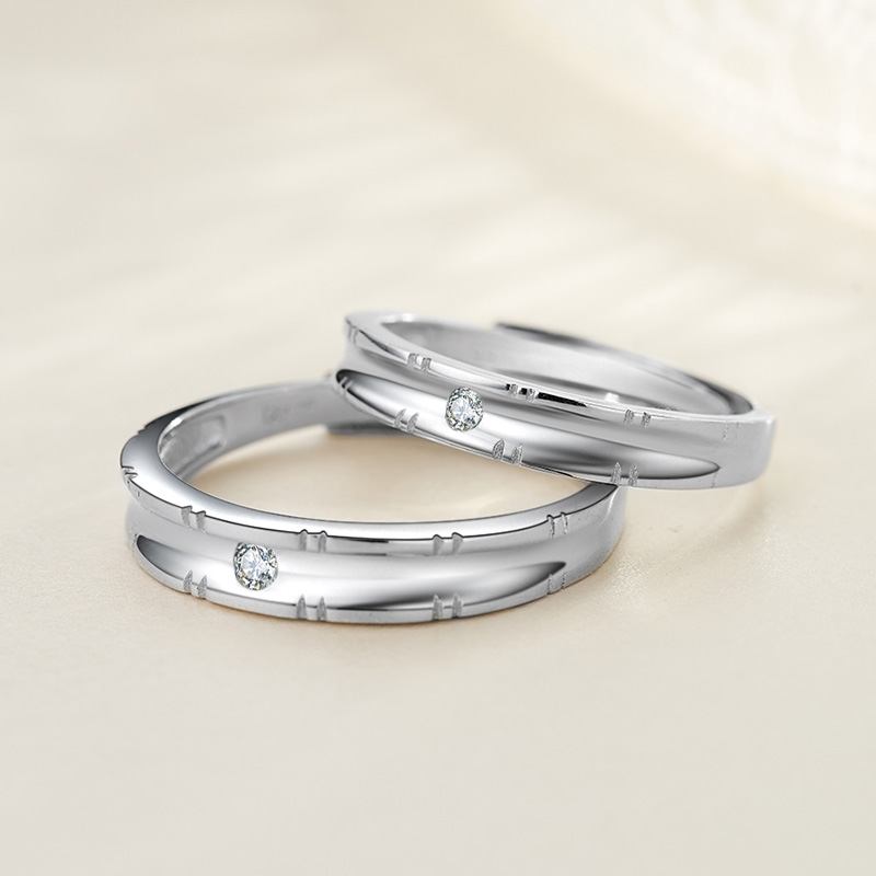 Bao edge original 925 female couple rings silver rings female couple rings can be engraved silver ring on the ring for men to live