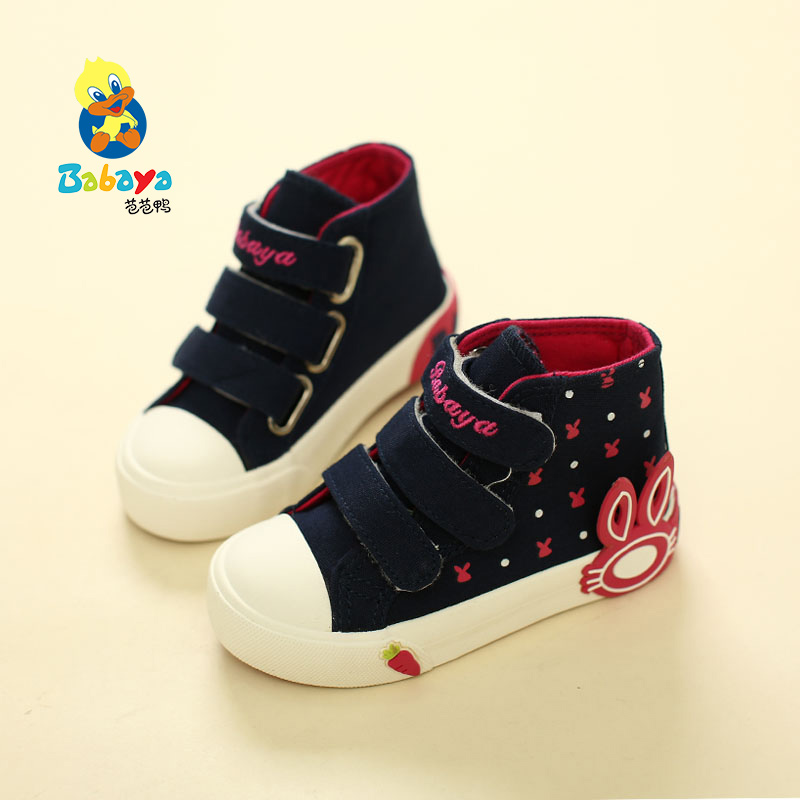Barbara duck children canvas shoes girls shoes casual shoes sport shoes big boy children card through the cloth shoes 2016 autumn