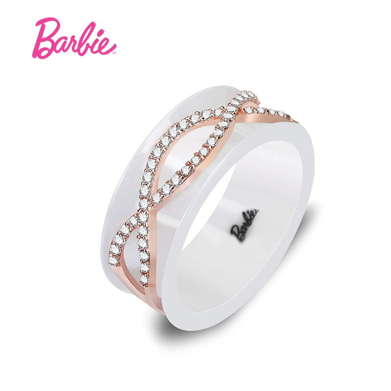 Barbie/barbie class 3a zircon flowers nanshan ceramic ring
