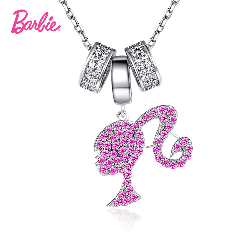 Barbie/barbie fashion princess zircon 925 silver jewelry necklace female fashion clavicle chain