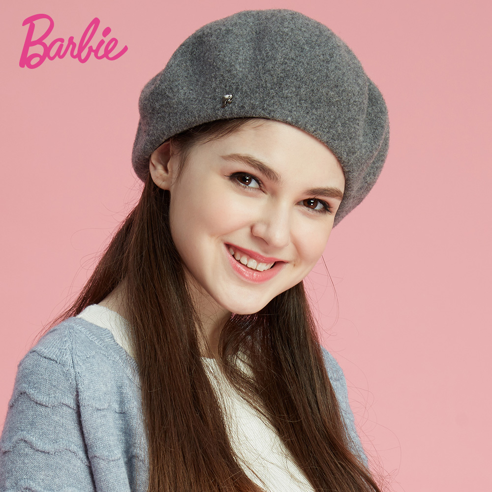 Barbie/barbie hat female winter hat wool beret hat lady hat autumn and winter days warm leisure wild