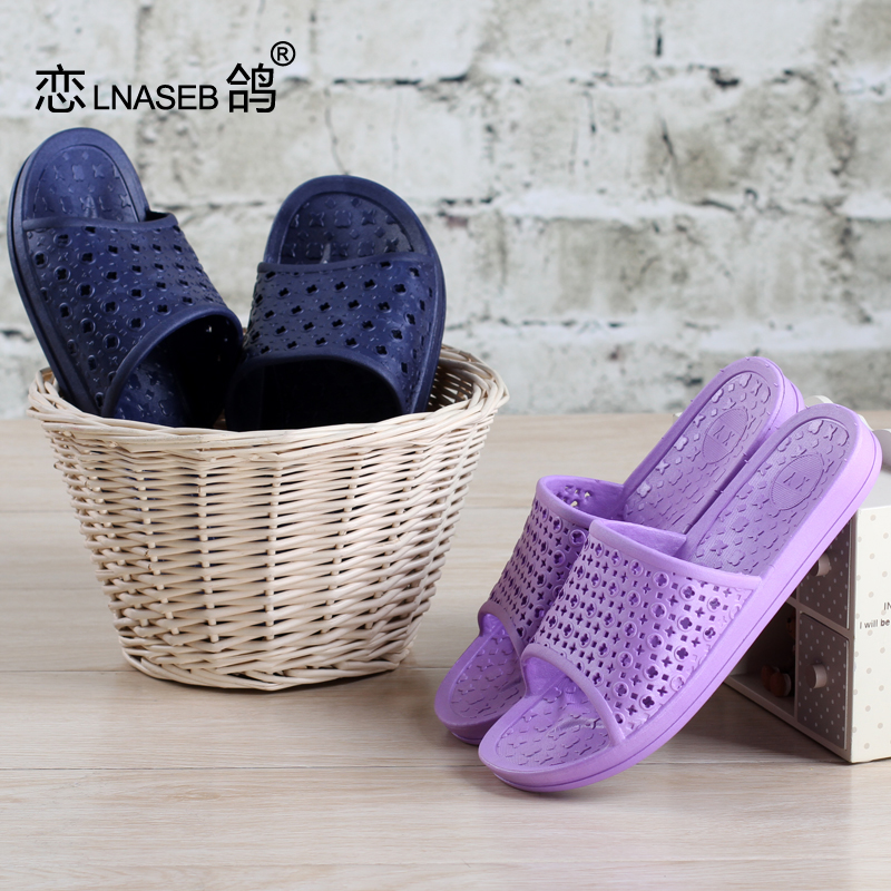 Bathroom slippers summer home for men and women couple home interior slip home leaking plastic bath sandals and slippers summer