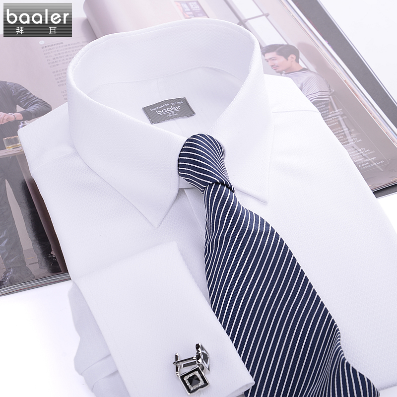Bayer baaler french classic cotton shirt collar british fashion gentleman takou crooner lk