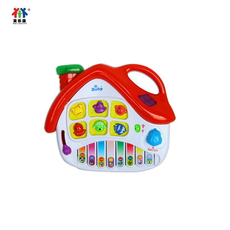 Baylor health baby music piano infant educational toys cartoon house children's toys electronic piano learning piano
