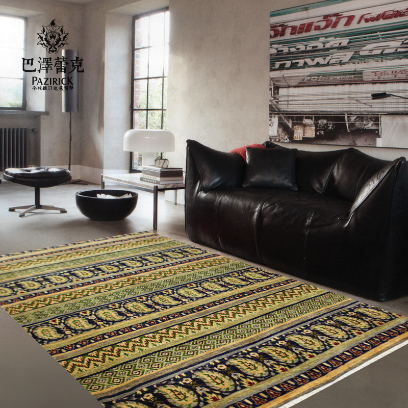 Baze leike pakistan imported hand knotted carpet wool carpet living room bedroom den shipping