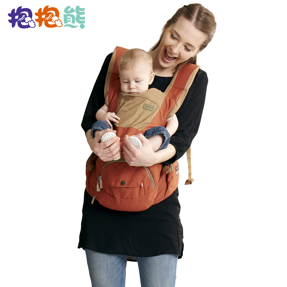 Bear hug multifunctional baby sling baby stool waist strap seasons hold back before baby shoulders hold back stool c06