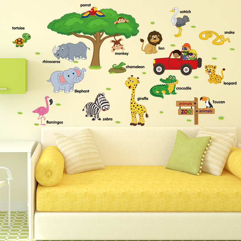 Beautiful Cartoon Bedroom Bedside Wall Decorations Living Room Wallpaper Adhesive Stickers Childrens Sticker
