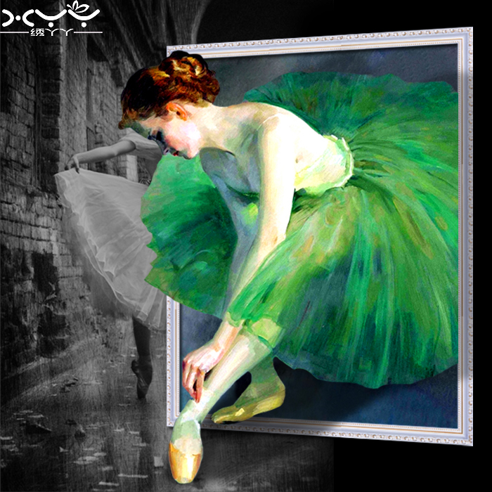 Beautiful cross stitch figure ballet dance dancing girls lovely diamond diamond embroidery painting euclidian europe diamond draw