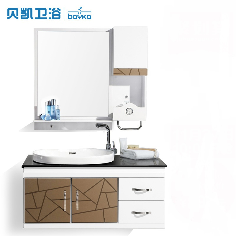 Becket pvc bathroom cabinet bathroom cabinet combination of small apartment bathroom washbasin vanity wash basin bathroom cabinet modern minimalist