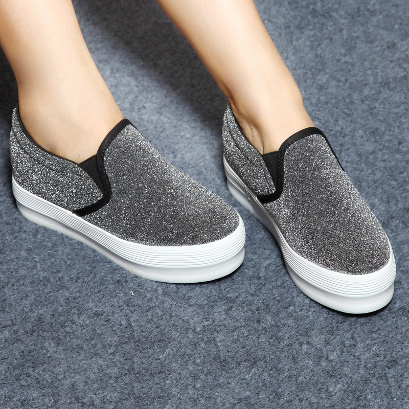Increased within the canvas shoes in summer and autumn thick crust Foot muffin Ms casual shoes Carrefour  IQXBMREK1
