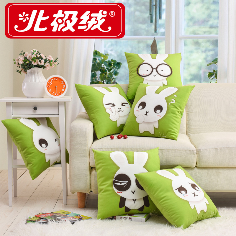 Beiji rong cartoon rabbit plush sofa pillow cushion cushion sofa cushion seat cushion