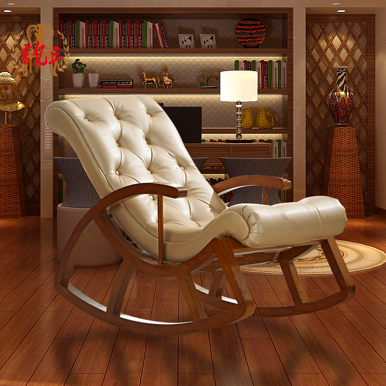 Get Quotations · Beijing Billion Roolls Are Solid Wood Rocking Chair Indoor  Lounge Chair Sofa Chair And Shook His