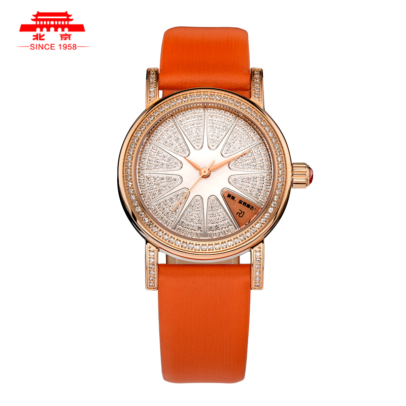 Beijing brand watches ladies watches leather strap automatic mechanical watch beijing love story diamond thin waterproof watch