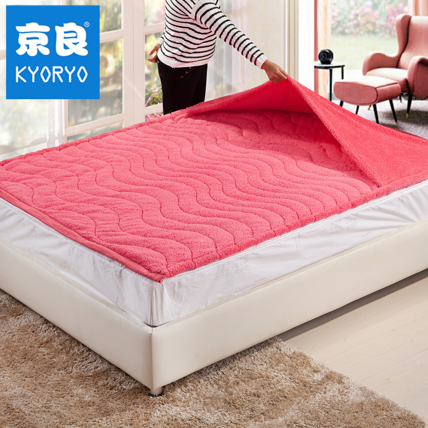 Beijing liang creative warm feet warm winter thick coral velvet mattress bed mattress single student dormitory mattress shipping