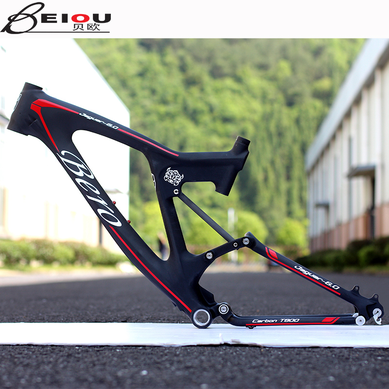 Beiou light carbon fiber frame mountain bike downhill bike 26 inch 27.5 inch soft tail mountain bike shock rack dh-71 cerntrifugal