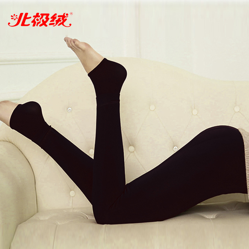 Bejirog/beiji rong autumn and seamless integration slim plus thick velvet leggings was thin outer wear warm pants