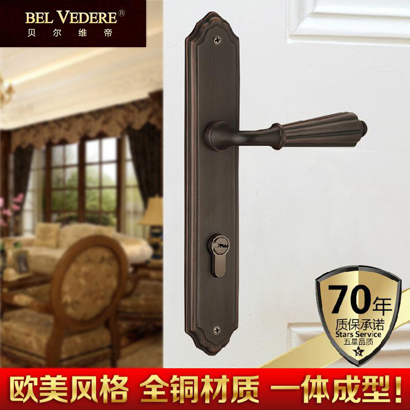 Get Quotations · Bellevue emperor tongsuo copper door locks american antique  black bronze door locks double door lock - China Antique Door Locks, China Antique Door Locks Shopping Guide At