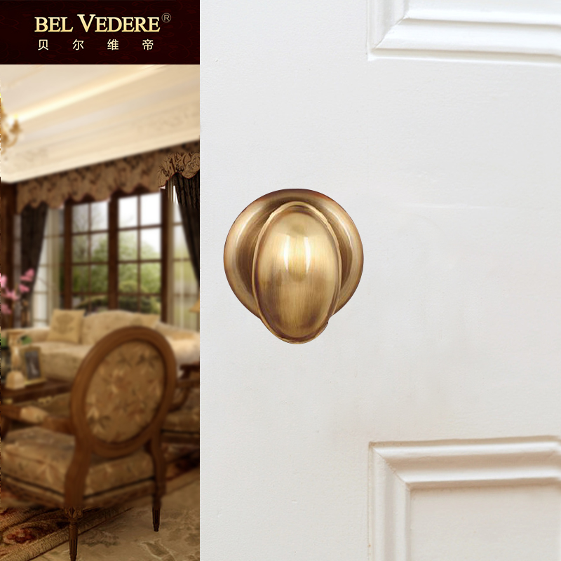 Bellevue emperor tongsuo european and american minimalist bathroom suite bathroom full copper inside the bedroom door lock handle lock the bathroom