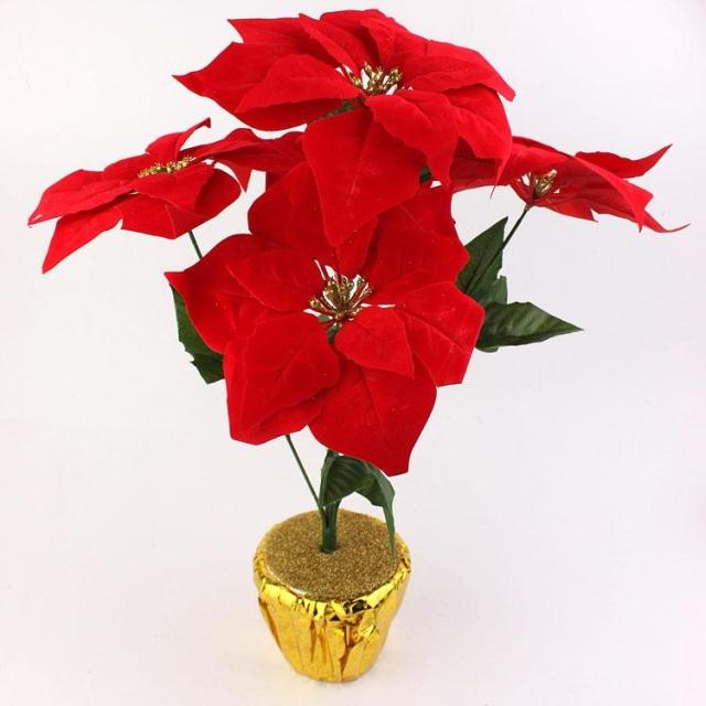 Ben deer christmas flower pots containing ~ simulation potted bonsai * * christmas poinsettia christmas flowers