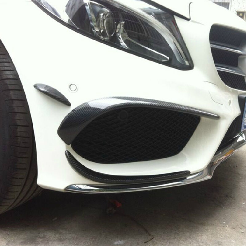 Benchi new class c w205 c180l c200l c260l section carbon fiber front lip surrounded modified front air knife orfices