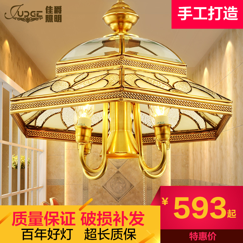 Best european jazz american restaurant chandelier chandelier bar creative arts copper copper lamps living room bedroom chandelier 9206