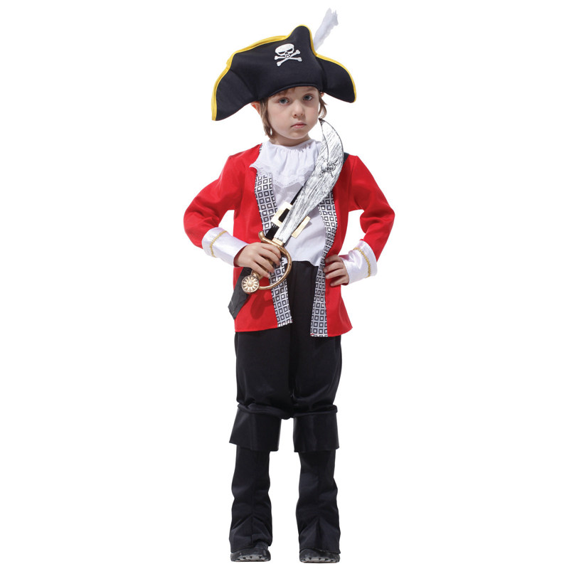 Beth bear jie children's pirate hook pirate halloween costume for children clothes clothing cos masquerade decoration