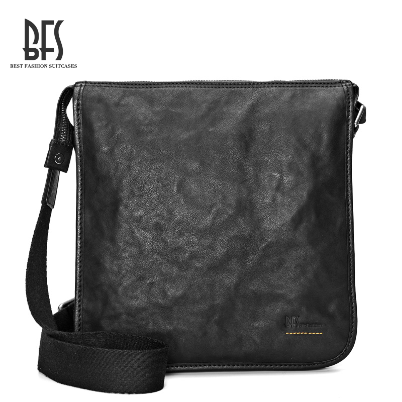 Bfs men leather shoulder bag men leather shoulder bag man bag messenger bag leather shoulder bag small bag european and american casual man bag
