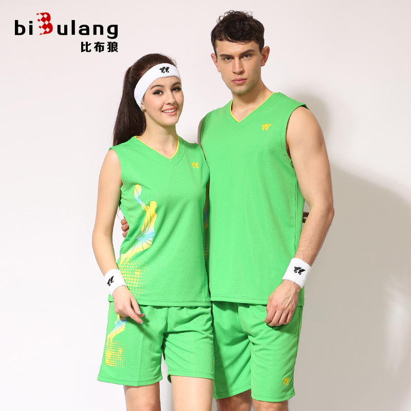 Bibb wolf basketball clothes suit custom suits for men and women couple short sleeve vest training game jersey number printed buy