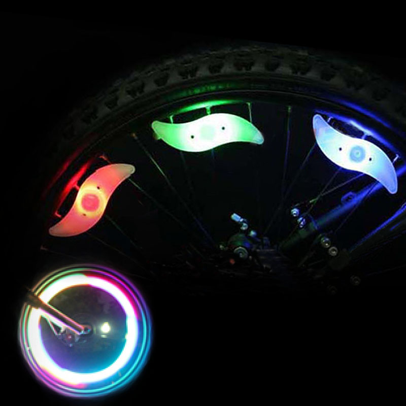 Bike lights mountain bike road bike gas nozzle hot wheels willow spoke lights wire lights bicycle riding equipment accessories