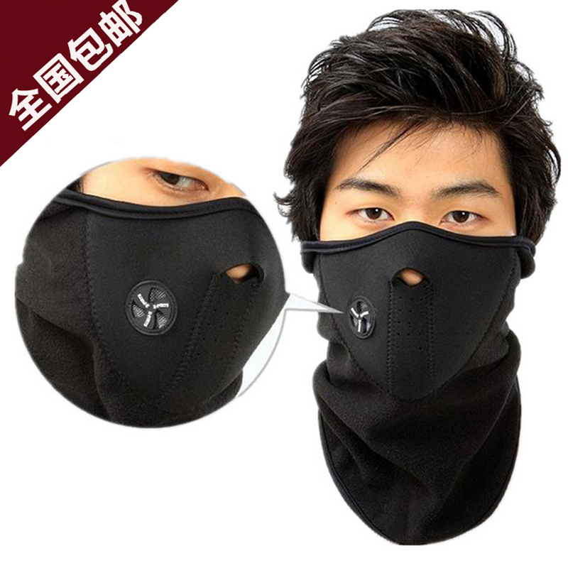 Bike riding mask headgear cold mountain biking and a half face masks dust haze windproof face protection mask scarf