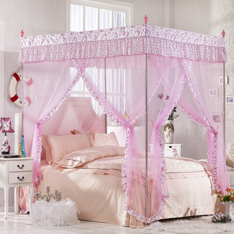Billion tu yi three door mosquito nets stainless steel floor stand palace princess student nets 1.5 m 1.8 m