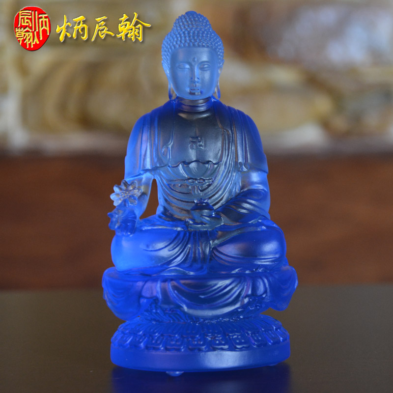 Bing chen han yakushuji tibetan tantric buddha statues ornaments healing glass living room ornaments become attached to the temple