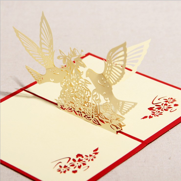 China 3d business cards china 3d business cards shopping guide at get quotations bird and tree creative stereoscopic 3d handmade greeting cards thanksgiving holiday love birthday congratulations greeting card m4hsunfo