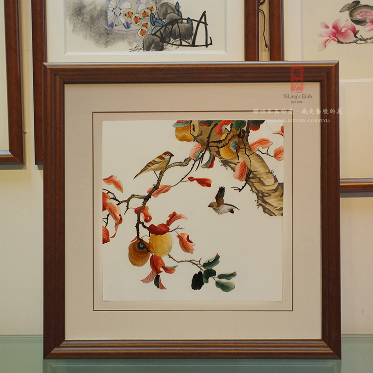Bird paintings fine embroidery embroidery suzhou embroidery handmade silk embroidery art silk silk embroidery finished decorative painting framed decorative murals