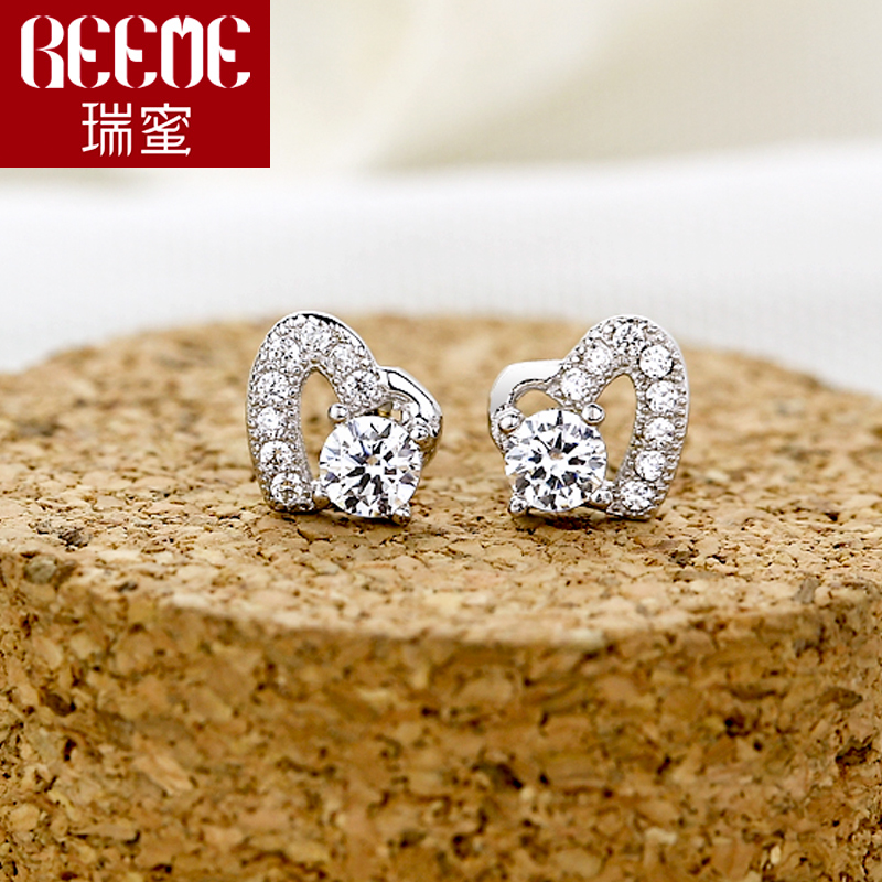 Birthday gift of love earrings 925 silver earrings zircon jewelry micro pave cz earrings earrings with jewelry