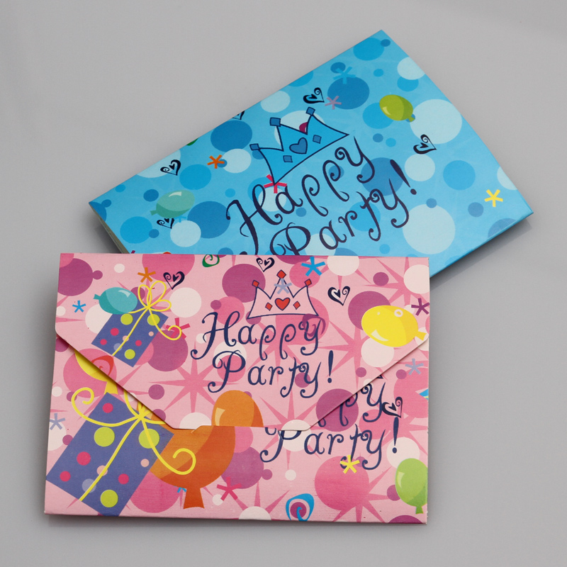 Birthday invitations/invitation card/theme invitations/birthday party party supplies/invitations/blue pink crown
