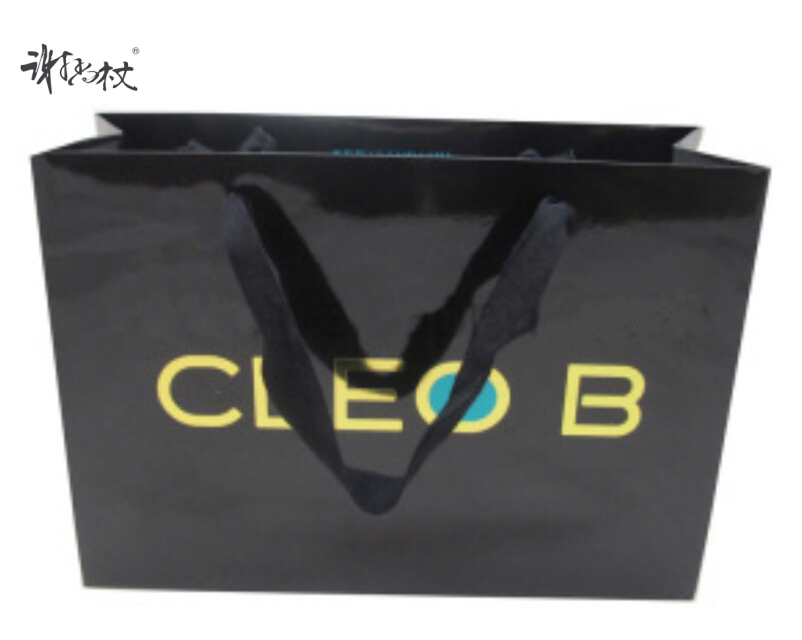Black kraft paper bags tote bag gift bag kraft paper bag white card paper bag customized